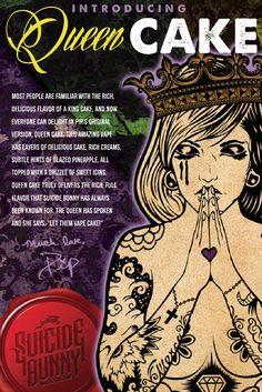 Queen Cake E Liquid - Suicide Bunny #vape #vaping #eliquid