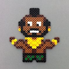 I pity the fool that doesnt buy this awesome Mr. T Perler bead magnet. Your favorite A-Team member or Rocky foe is immortalized in Perler fusible