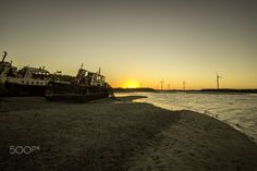 A sunset in Guamaré-RN, Brazil. - Guamaré is a city and a municipality in the 39, state of Rio Grande do Norte in the Northeast region of Brazil.