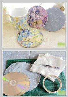 Don't know what to do with all your old cds - here's a great idea