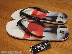 Men's O'neill flip flops thongs sandals 13 friction SE red 12184300 NEW NWT surf