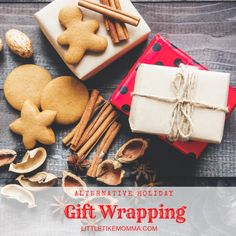 Wrapping Paper Alternative – littletikemomma Old Paper, Gingerbread Cookies, Coffee Shop, Holiday Gifts, Upcycle, Alternative, Wraps, Things To Come, Gift Wrapping