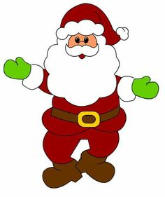 free santa claus clip art image clipart illustration of santa 2 rh pinterest com free clip art santa's elves free clip art santa workshop