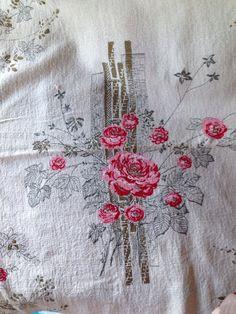 Vintage barkcloth 1 m +