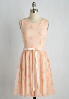 Spinning Time Together Dress. What ever will you do with your newfound love for this pastel pink A-line? #blush #modcloth