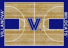 Villanova University Basketball Court Rug