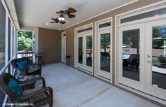 Rear porch from house plan #1350 The Travis.