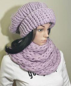 Crochet Infinity Scarf Pattern, Chunky Infinity Scarves, Crochet Hats, Beanie, Shop, How To Make, Etsy, Fashion, Tejidos