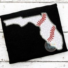 Florida Baseball Applique - 4 Sizes! | What's New | Machine Embroidery Designs | SWAKembroidery.com Creative Appliques