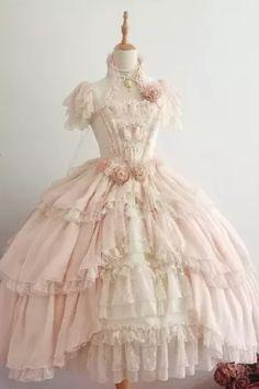 Pretty Outfits, Pretty Dresses, Beautiful Dresses, Cute Outfits, Kawaii Dress, Kawaii Clothes, Kawaii Fashion, Lolita Fashion, Vestidos Vintage