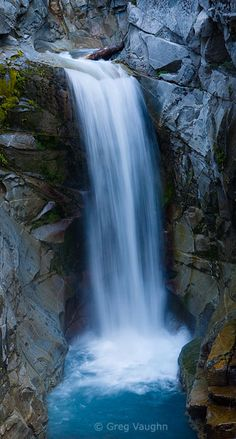 Christine Falls, Mount Rainier National Park in Washington State ...
