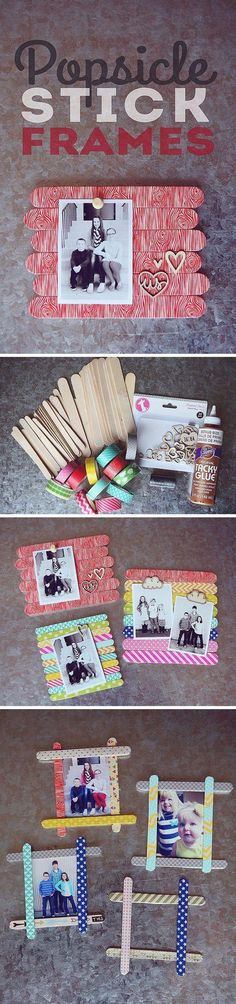Geschenk Ideen - DIY gift ideas for mom from kids - cute DIY picture frame - easy craft gift for . Geschenk Ideen - DIY gift ideas for mom from kids - cute DIY picture frame - easy craft gift for . Diy Gifts For Mom, Diy Mothers Day Gifts, Easy Diy Gifts, Fathers Day Crafts, Homemade Gifts, Popsicle Stick Crafts, Craft Stick Crafts, Craft Gifts, Popsicle Sticks