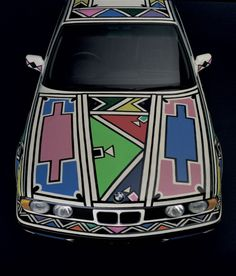 South African artist Esther Mahlangu's signature Ndebele design for BMW