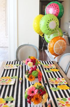 two-tti frutti party; tutti frutti party for girls