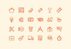 Icon collection on Behance