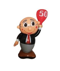 Leuke opblaasbare Abraham pop om een vijftigste verjaardag te vieren. Deze opblaasbare feestartikel is circa 1m hoog en u zult er zeker indruk mee maken op de jarige job.