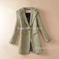 Find More Information about Free shipping women good quality plaid blazer women coat long cardigans plus size suit jacket blazer feminino blazer feminino,High Quality blazer button,China jacket new Suppliers, Cheap jacket clothes from Perfect And Fashion Merchandise Store  on Aliexpress.com