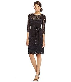 Cute lbd for holiday parties...Marina Floral Lace Dress @dillards