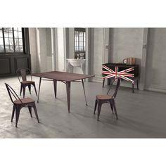 <br><br><ul><li>Materials: Bamboo, Steel</li><li>Finish: Steel</li><li>Color: Rustic Wood</li><li>Dimensions: 59 inches wide x 36 inches deep x 30.3 inches high</li></ul>