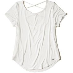 0b92c900bf Hollister Must-Have Strappy Back T-Shirt ( 20) ❤ liked on Polyvore featuring  tops
