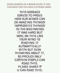 I can read it!