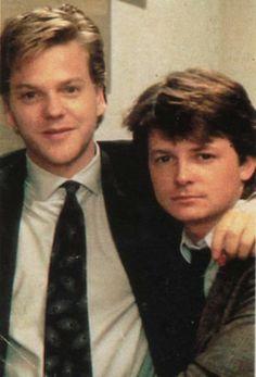 "Kiefer Sutherland, Michael J Fox in ""Bright Lights, Big City"""