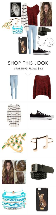 """""""My friend Emma today lol"""" by dino-satan666 ❤ liked on Polyvore featuring H&M, Converse, Allurez, Domo Beads, Dolce&Gabbana and Marshall"""