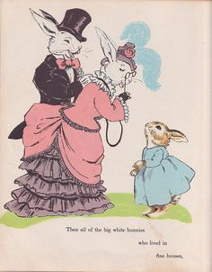 vintage bunnies illustrations