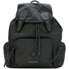 "Burberry ""Mlrucksack"" Backpack ($895) ❤ liked on Polyvore featuring men's fashion, men's bags, men's backpacks, black and burberry"