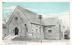 Batesville Arkansas First Baptist Church Antique Postcard (J17471)