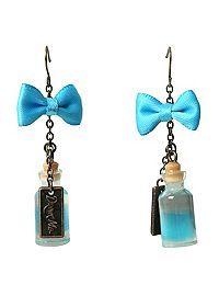 HOTTOPIC.COM - Disney Alice In Wonderland Drink Me Bottle Earrings