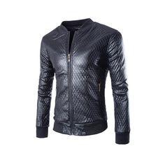 Men Motorcycle Suede Leather Jacket