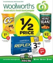 Woolworths Weekly Half Price Specials: Starting 16 Oct - Posted on Oct 2013 Half Price, October, Food, Eten, Meals, Diet