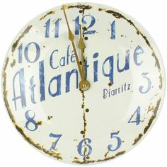 Caftlantique enamel wall clock 36cm