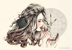 'Rouge Passion' CRISTINA ALONSO Illustration. www.cristinalonso.com…