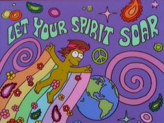 ☮ American Hippie Bohéme Boho Psychedelic Art ☮ The Simpsons Yoga Studio Design, Psychedelic Art, Simpson Tumblr, Hippie Art, Retro Aesthetic, The Simpsons, Wall Collage, Picture Wall, Trippy