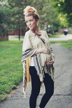 Bring out the ponchos! #MaternityFashion - BabyBump - the app for pregnancy - babybumpapp.com