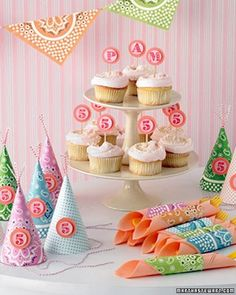 If you're planning a child's celebration, creating a theme from scratch can be as simple as selecting fun paper and rubber stamps.