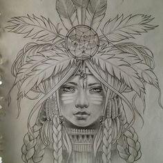 American indian tattoo