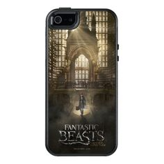 Newt Scamander in M.A.C.U.S.A. Headquarters OtterBox iPhone 5/5s/SE Case - fantastic beasts, and where to find them, jk rowling, harry potter, wizard, newt scamander, movie poster, macusa, magical congress of the usa, art deco, tall windows, architecture, magical creatures, magic