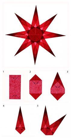 Adventsbasteln leicht gemacht   Weihnachtssterne aus Transparentpapier falten in Rot nach einer Anleitung des Blogs deschdanja. Eignet sich auch für das Basteln in Schule und Kindergarten. Paper stars Christmas craft. http://www.meinesvenja.de/2015/11/12/adventsbasteln-leicht-gemacht/