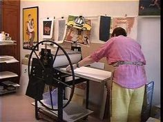 This video demonstrates the registration process in block printing.  It also demonstrates how to get different colors by using reduction printing.