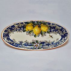 Toscana Volute Oval Platter - Italian Pottery Outlet
