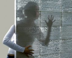 Intriguing Design Innovation: Litracon® Transparent Concrete You have to see it! Intriguing Design Innovation: Litracon® Transparent Concrete You have to see it! Beton Design, Concrete Design, Transparent Concrete, Semi Transparent, Future Buildings, Concrete Blocks, Concrete Walls, Concrete Light, Concrete Building