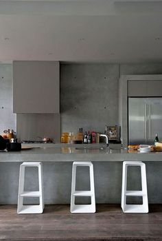 ideas de cocinas en concreto por Mariangel Coghlan05