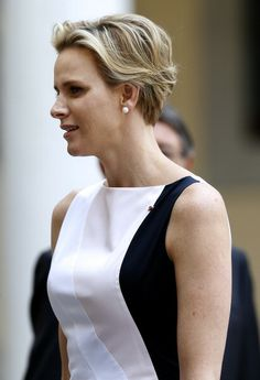 Princess Charlene of Monaco attends a welcoming ceremony held as part of…