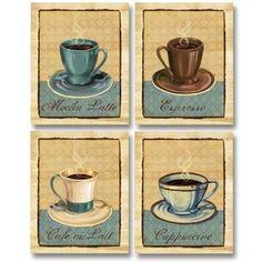 PosterArtNow Coffee Club- Mini Vintage Coffee Art Print Post ...