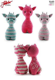 Giraffen Ziggy - Best Image Giraffe In The Word Crochet Giraffe Pattern, Crochet Patterns Amigurumi, Crochet Toys, Crochet Baby, Free Crochet, Giraffe Toy, Crochet Keychain, Pretty Dolls, Crochet Accessories