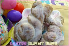 Mommy's Kitchen - Home Cooking & Family Friendly Recipes: Easter Bunny Buns {A Fun & Festive Easter Treat} Peeps Recipes, Easter Recipes, Holiday Recipes, Dessert Recipes, Desserts, Holiday Foods, Holiday Ideas, Kitchen Recipes, Cooking Recipes