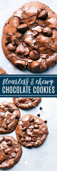 Delicious and simple FLOURLESS milk chocolate meltaway cookies via chelseasmessyapron.com